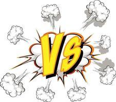komische tekstballon met versus tekst vector