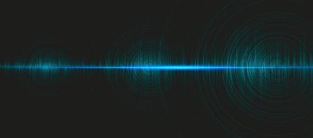 hi-tech digitale geluidsgolf laag en hoog richterschaal met cirkeltrilling op lichtblauwe achtergrond, technologie en aardbevingsgolfdiagramconcept, ontwerp voor muziekstudio en wetenschap, vectorillustratie. vector