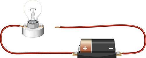wetenschappelijk experiment van elektrisch circuit vector