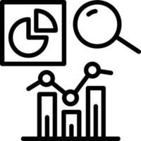 lijnpictogram voor analyse vector