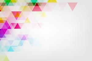 vector abstracte kleurrijke achtergrond gemaakt op basis van geometrische vormen.