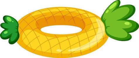 ananas patroon zwemmen ring geïsoleerd vector