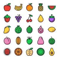 fruit pictogramserie vector