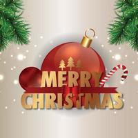 vrolijk kerstfeest uitnodiging vakantie wenskaart vectorillustratie en wenskaart vector