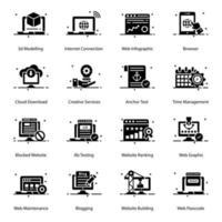 bouw en infrastructuur pictogramserie vector