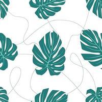naadloze patroon van tropische bladeren vector