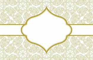 vintage ornament achtergrond sjabloon vector