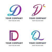 verzameling van d-logo sjabloon vector