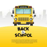 Schoolbus voorzijde Vector