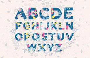 Herfst alfabet Vol 2 Vector