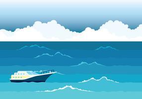 Volle zee Vector