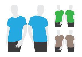 Mannen die T-shirtmalplaatje dragen vector