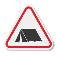 geen camping zingen isoleren op witte achtergrond, vector illustratie