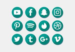 sociale media pictogrammen instellen vector