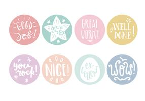 Ronde Pastel Teacher Reward Stickers vector