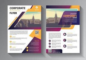 brochureontwerp, omslag moderne lay-out, jaarverslag, poster, flyer in a4 met kleurrijke driehoeken, geometrische vormen voor technologie, wetenschap, markt met lichte achtergrond vector