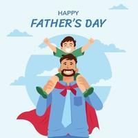 gelukkige vaderdag vector