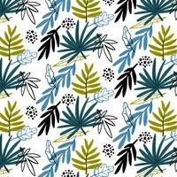 Kleurrijk patroon met bladeren vector