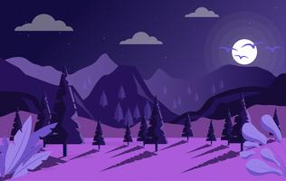 Vector Fantasie Landschap Illustratie