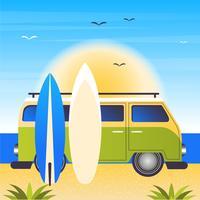 Vector zomer accessoires illustratie