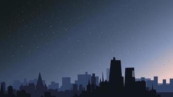 stad in de nacht. vector