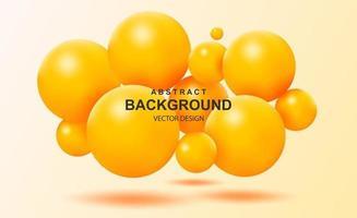 abstracte achtergrond met vallende 3d ballen vector