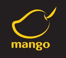 mango penseelvorm vector