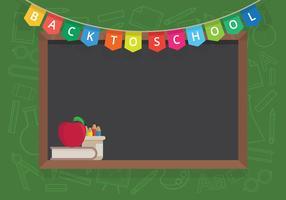 Eerste dag terug naar school illustratie voor kinderen of student.