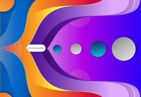 ilustration grafische vector van abstracte golvende achtergrond