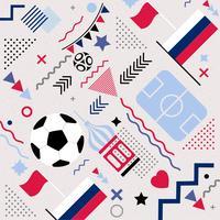 Vector Soccer World Cup Memphis Pattern Achtergrond
