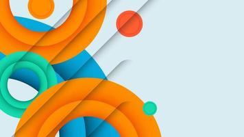 kleurrijk behang met geometrische vormen. minimale geometrische achtergrond. eenvoudige vormen met trendy verlopen. vector