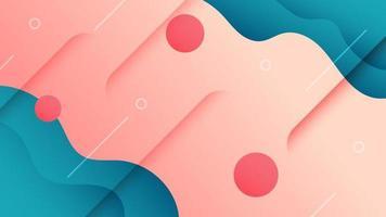 abstracte achtergrond vloeistof kleurrijk. creatieve banner met vloeiende vorm. vector illustratie.