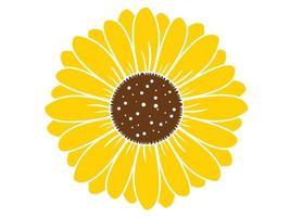 zonnebloem geïsoleerd op een witte achtergrond. Boho tribal print. platte ontwerp illustratie vector