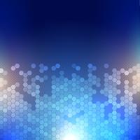 Techno abstracte achtergrond met een zeshoek ontwerp vector