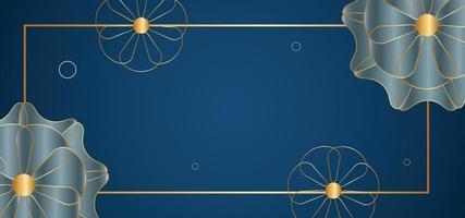 abstracte bloemen mooie achtergrond of banner vector