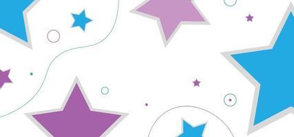 blauwe en roze sterren naadloze patroon of achtergrond vector