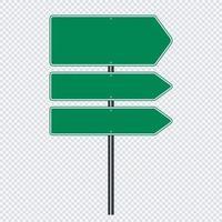 groen verkeersbord, bordborden vector