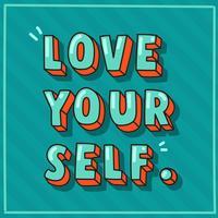 hou van jezelf typografie vector