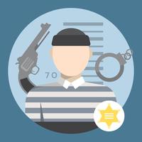 crimineel karakter vector
