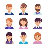 zakenmensen avatar set vector
