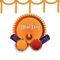 happy bhai dooj, het festival van de Indiase traditie vector