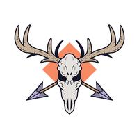 herten schedel vector