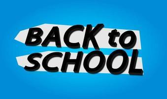 ontwerp terug naar school banner.logo.icon.vector illustratie vector
