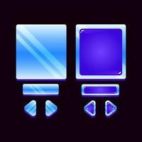 set van space jelly game ui board pop-up voor gui asset elementen vector illustratie