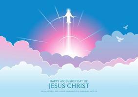 gelukkige hemelvaartsdag van jezus christus vector