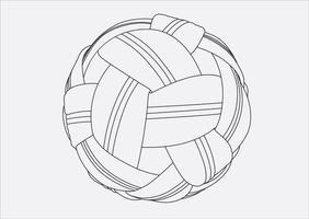 volleybal hand tekenen vector