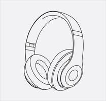 hoofdtelefoon in vector eps 10