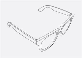 zonnebril hand tekenen in vector eps 10