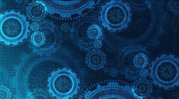 abstracte technische versnellingen wiel en haan op technische achtergrond, vrije ruimte voor tekstinvoer, vector