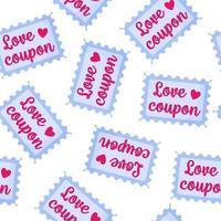 naadloze patroon van liefdesbonnen voor de bruiloft of Valentijnsdag. vector